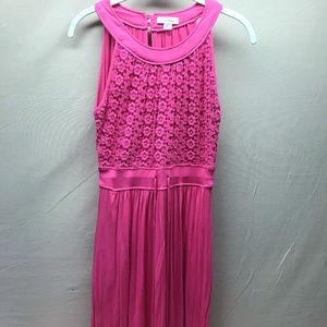 Calvin Klein Pink Sleeveless Floral Lace Dress